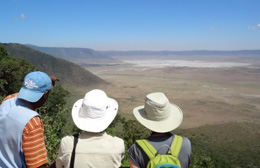 Crater view into Ngorongoro