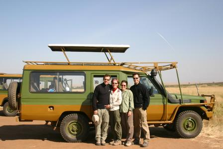 Kenya Landcruiser and guests