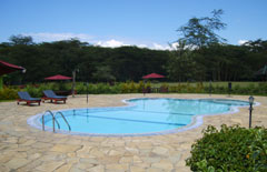 Lake Naivasha resort pool